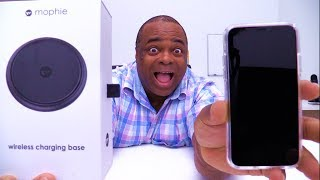 iPHONE X Wireless Charging Base UNBOXING! [Mophie]