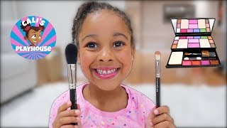 5 Year Old Makeup Routine | Cali's Playhouse