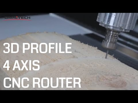 4 Axis CNC Router for 3D Mold Making
