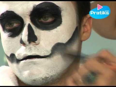 Maquillage fete : La tete de mort