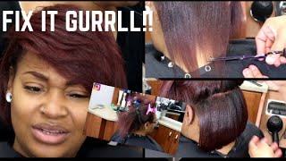 DETAILED SILK PRESS & BOB/  dimensional Red Head JOICO (VOICE OVER)