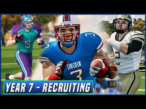 Year 7 Recruiting w/ High School Highlights (AMAZING Top 5) -  NCAA Football 14 Dynasty   Ep.113