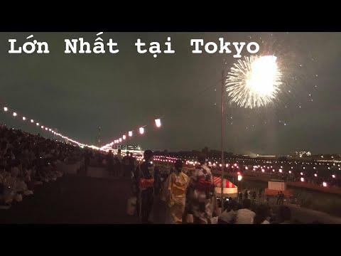 Lễ hội pháo hoa lớn nhất tại Tokyo