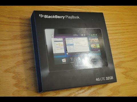 4G LTE BlackBerry PlayBook Unboxing