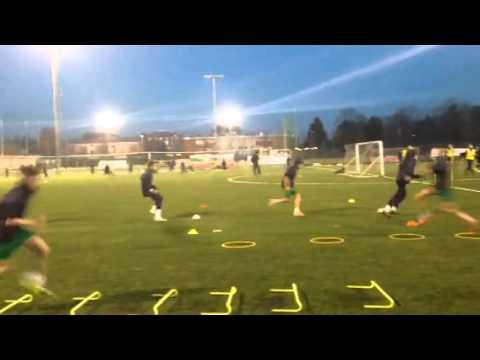 Calcio: circuiti ad alta intensita rapidita/tecnica di corsa/velocita