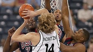 Paul Pierce, Baron Davis, Jermaine O'Neal and the United States play Dirk Nowitzki and Germany in this 2002 FIBA World Championship group game. Full match in Italian.👍 and subscribe for more international basketball videos ► http://bit.ly/SubWorldBasketballBox score ► http://www.fiba.com/pages/eng/fa/game/p/gid/3/grid/C/rid/3446/sid/3118/_/2002_World_Championship_for_Men/statistic.html