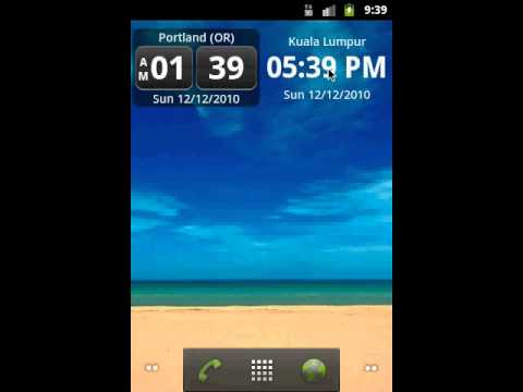 Video of World Clock Widget
