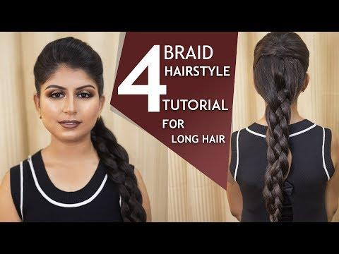 4 Strand Braid Tutorial  Step by Step Braid Hairstyles  Best Hairstyles  Chandni Singh