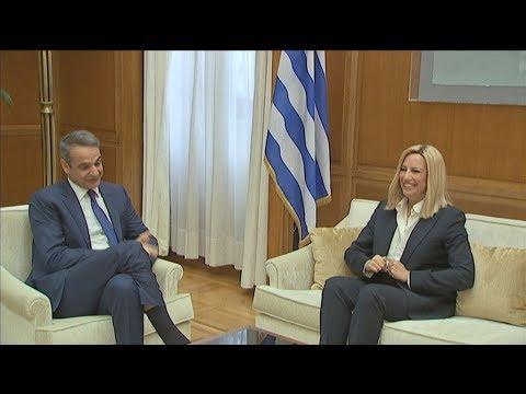 Συνάντηση του  πρωθυπουργού  με την πρόεδρο του ΚΙΝΑΛ, Φ. Γεννηματά