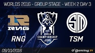 RNG vs TSM - World Championship 2016 - Group Stage Week 2 Day 3