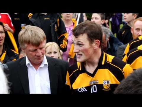 Buttevant - Winning Buttevant Captain John Mulchinock Delivers speech after winning North Cork Junior Premier Hurling Championship beating Churchtown on the scoreline Bu...