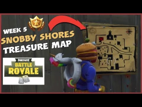 Fortnite Battle Royale - Follow the treasure map found in Snobby Shores