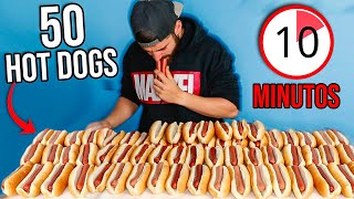 50 HOT DOGS EN 10 MINUTOS **Reto de hot dogs en la mansión** (dificultad alta)