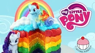 RAINBOW CAKE! How to Make a My Little Pony Rainbow Layer Cake with Cupcake Addiction