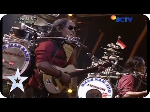 "One Man Band Sings ""Bongkar"" From Iwan Fals - Yon Gondrong - SEMIFINAL 5 - Indonesia's Got Talent Mp3"