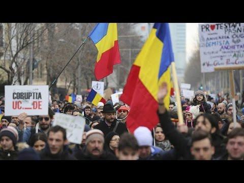 Για τέταρτη ημέρα συνεχίζονται οι διαδηλώσεις στη Ρουμανία