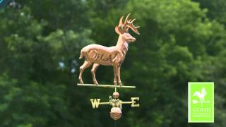 Standing Deer Weathervane - Polished Copper - Good Directions