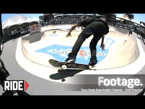 skateboard park - Tony Hawk takes us behind the scenes at X Games 2012 for the Skateboard Park Practice. Featuring: Grant Taylor, Aaron 