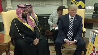 Video President Trump Meets with Crown Prince Mohammad bin Salman of the Kingdom of Saudi Arabia MP3, 3GP, MP4, WEBM, AVI, FLV April 2018