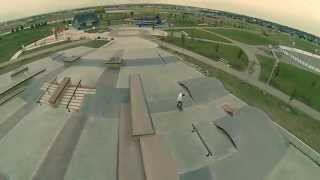 Airdrie (AB) Canada  City new picture : Airdrie, Alberta Skatepark Aerial Video - New Line Skateparks