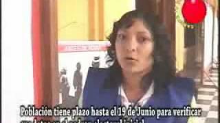 padron electoral VERIFICACIÓN DE DATOS EN PADRON ELECTORAL