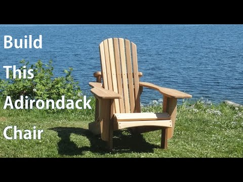 Building an Adirondack Chair - A woodworkweb.com woodworking video