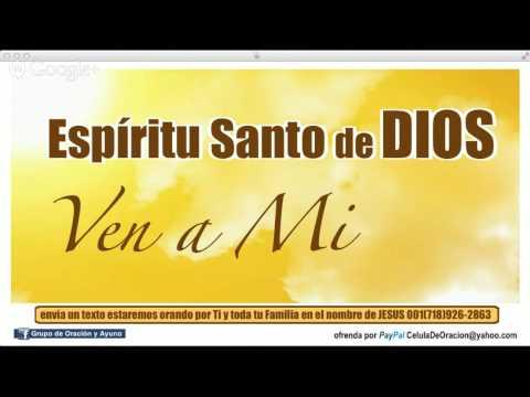 Oración buscando la llenura del Espíritu Santo de Dios