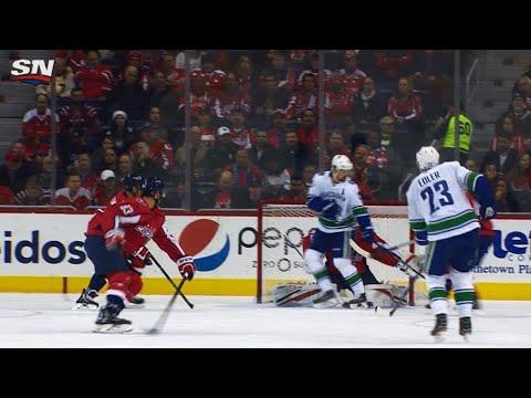 Video: Daniel Sedin tips Alex Edler shot, Canucks open scoring against Capitals