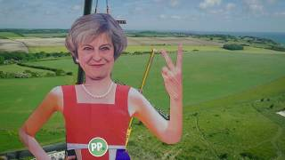 Everybody's worst nightmare? As Brexit talks get feisty, Paddy Power unveil a 110 foot Theresa May on the White Cliffs of Dover to mark the occasion.