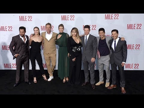 "Download Video ""Mile 22"" World Premiere Main Cast Arrivals"