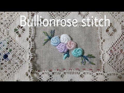 Bullionrose stitch - ( 불리온로즈 스티치)  자수클래식 자수동영상강의