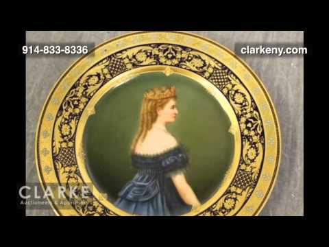 Post Auction | 3 Royal Vienna Porcelain Portrait Plates | Pottery | Clarke Auction Gallery