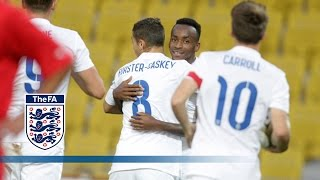 England Under-21s made it nine wins from 10 games in their Euro qualifying group on Monday evening with a confident ...