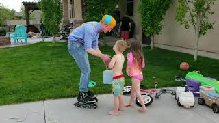 Indie's 4!! Blippi came to Indies birthday party!!