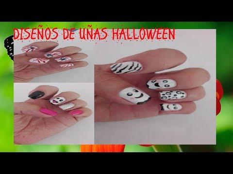 Uñas decoradas - 3 DiSeÑoS De UñAs De HaLlOwEeN FaCiLeS Y RaPiDoS