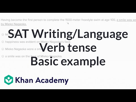 Writing Shift In Verb Tense And Mood Basic Example Video