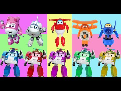 Super Wings Finger family Robocar Poli Transforming Roy [출동! 슈퍼윙스/Superwings] 출동! 슈퍼윙스 키즈카페에 가다! |