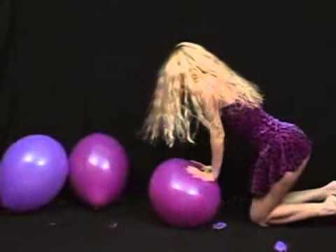 balloon fetish looner) balloonheart   katya sitpop purple balloons (видео)