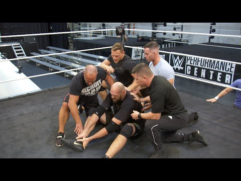 Braun Strowman blindsides Tyson Fury at WWE Performance Center