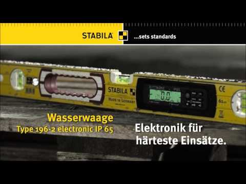 Stabila  Elektronik-Wasserwaage Type 196 electronic IP 65