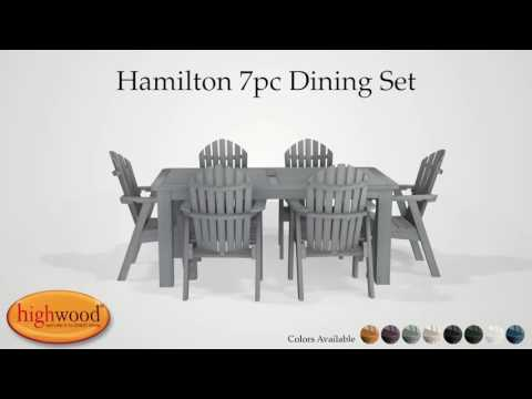 Hamilton Two Tone 7pc Rectangular Patio Dining Set Highwood USA