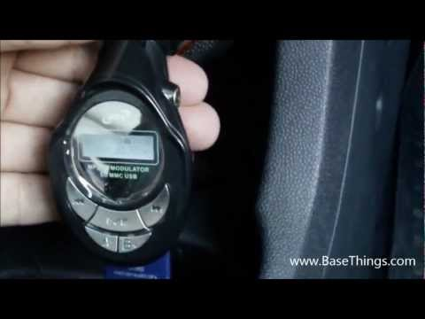 Car FM Music Modulator Demonstration (MP3 FM modulator mmc usb in car audio system) - BaseThings