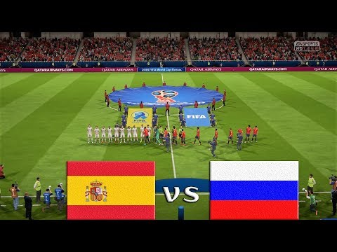 Spain vs Russia Full Match & Prediction 30th June 2018 Round of 16 : FIFA 18 Gameplay