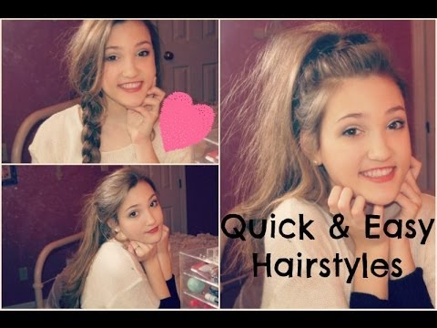 Quick and Easy Hairstyles♡