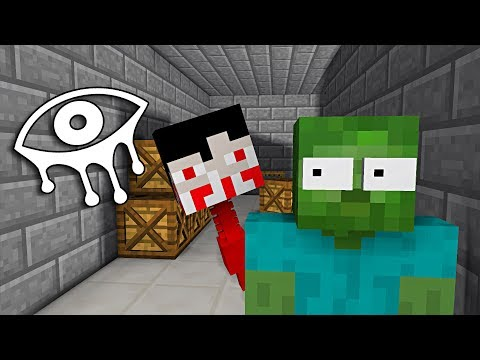 Monster School : EYES OF HORROR GAME CHALLENGE - Minecraft Animation (видео)