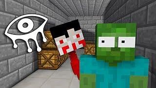 Monster School : EYES OF HORROR GAME CHALLENGE - Minecraft Animation