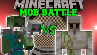 IRON GOLEM VS. FLESH LICHE - Minecraft Mob Battles - Arena Battle - Grimoire of Gaia Mod Battle