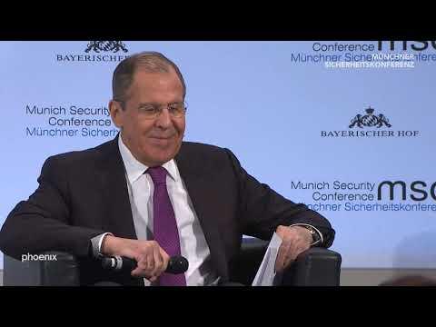 55. Münchner Sicherheitskonferenz: Auftritt von Sergej Lawrow (Außenminister Russland) am 16.02.19