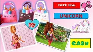 DIY | Unicorn purse for dolls.. Unicorn miniature for Barbie doll.