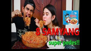 Video GILA!! | MAKAN 8 BUNGKUS SAMYANG SUPER PEDES Ft SHELY CHE MP3, 3GP, MP4, WEBM, AVI, FLV Desember 2018